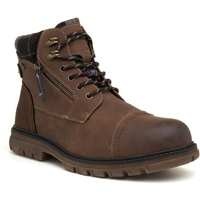Relife Cognac Mens Brown Zip Up Boot
