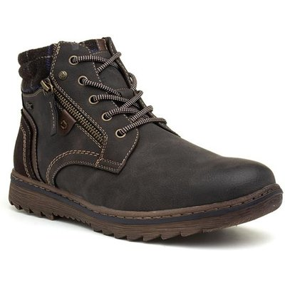 Relife Mens Brown Lace Up Ankle Boot