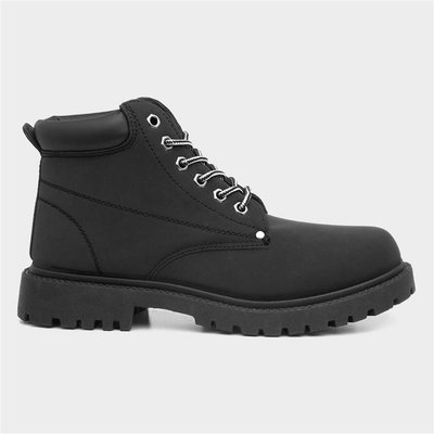 Earth Works Mens Lace Up Boot In Black