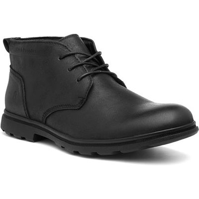 Hush Puppies Tyson Mens Black Lace Up Leather Boot
