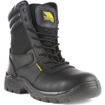 Earth Works Mens Black Lace Up Ankle Safety Boot
