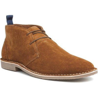 Catesby Mens Tan Leather Lace Up Desert Boot