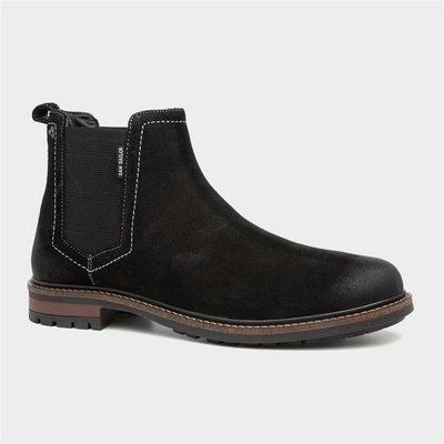 Sam Sailor Barns Mens Black Suede Chelsea Boot
