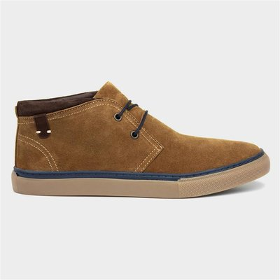 Catesby Mens Tan Suede Casual Boot
