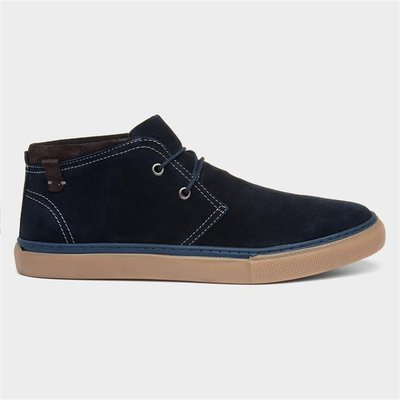 Catesby Mens Navy Suede Casual Boot