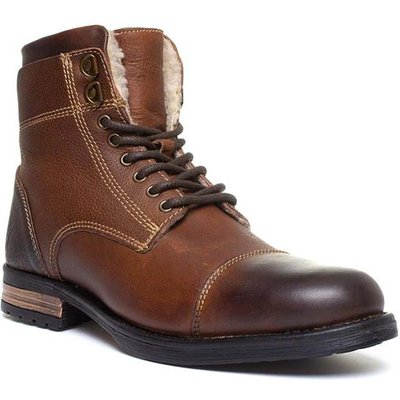 Silver Street Stanley Mens Lace Up Boot in Brown