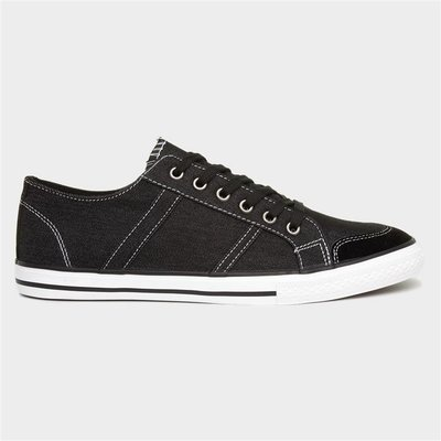 Red Level Russell Mens Black Canvas Lace Up Shoe
