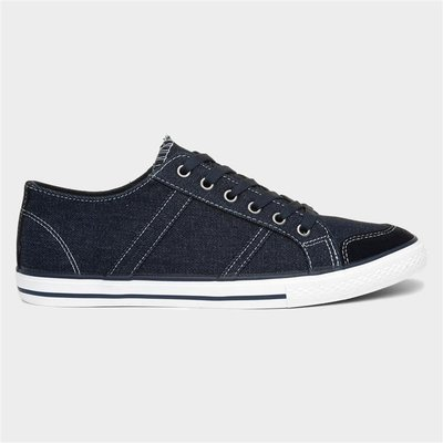 Red Level Russell Canvas Navy Mens Shoes Lace Up