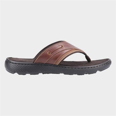 Hush Puppies Connor Flip Flop in Brown