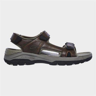 Skechers Tresmen Hirano Velcro Sandal in Brown