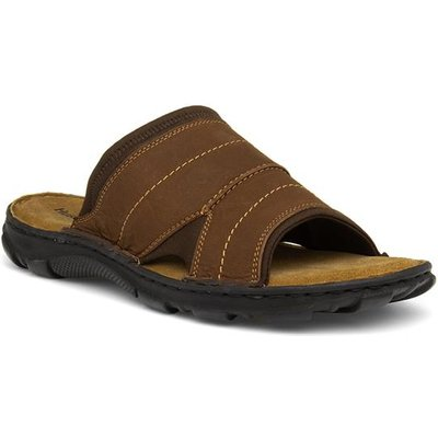 Hush Puppies Austin Mens Brown Leather Mule Sandal