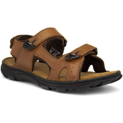 Hush Puppies Avery Mens Brown Leather Sport Sandal