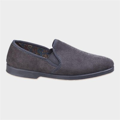 GBS Exeter Mens Twin Gusset Slipper in Grey