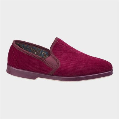 GBS Exeter Mens Twin Gusset Slipper in Red