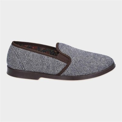 GBS Mens Stafford Twin Gusset Slipper in Brown