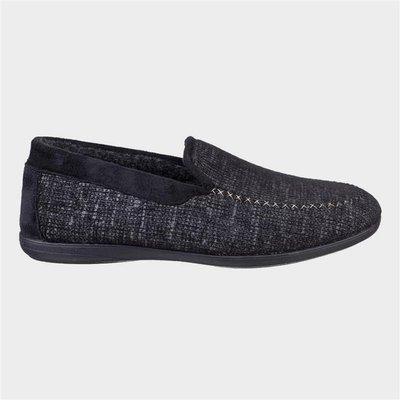 Cotswold Mens Stanley Loafer Slipper in Black