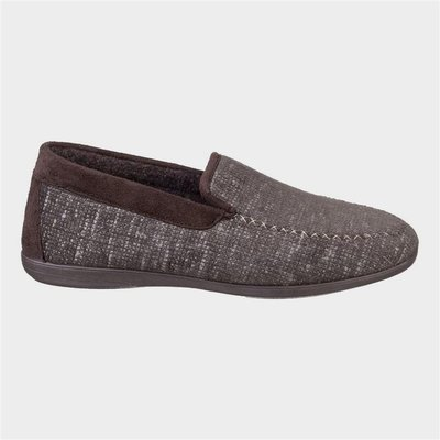 Cotswold Mens Stanley Loafer Slipper in Brown
