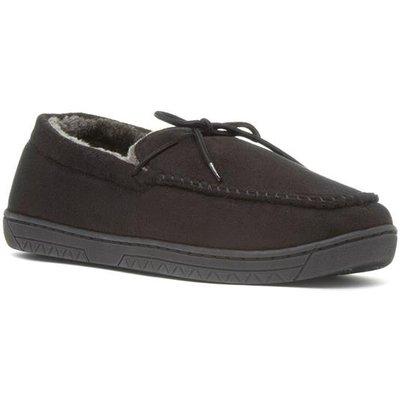 The Slipper Company Mens Moccasin Slipper in Black
