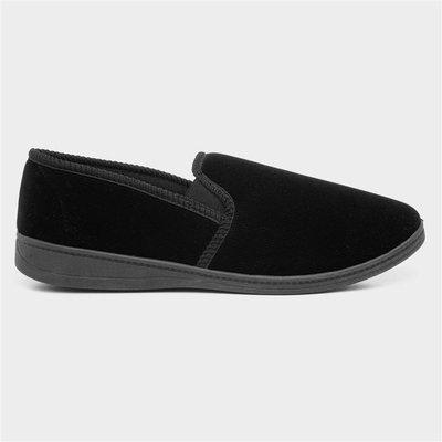 The Slipper Company Mens Black Full Slipper