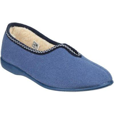 GBS Helsinki Classic Womens Slippers in Blue