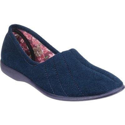 GBS Womens Audrey Blue Slipper