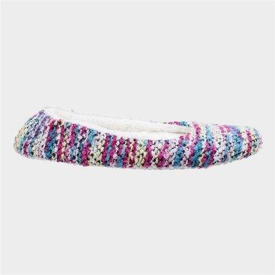 Divaz Womens Morzine Knitted Slipper in Pink