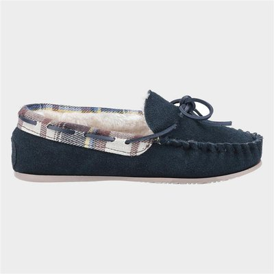 Cotswold Kilkenny Womens Navy Suede Moccasin
