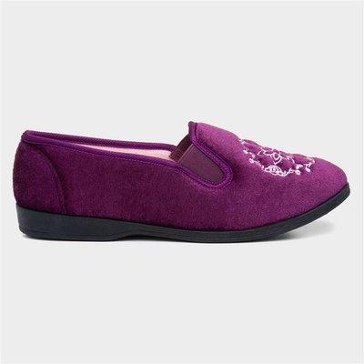 The Slipper Company Womens Heather Slip On Slipper