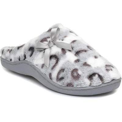 The Slipper Company Womens Grey Slipper with Bow
