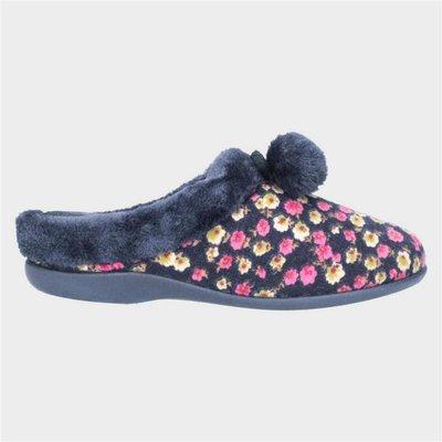 Mirak Chabilis Womens Navy Flower Print Slipper