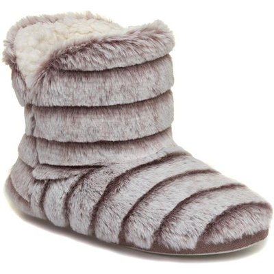 The Slipper Company Womens Taupe Bootie Slipper