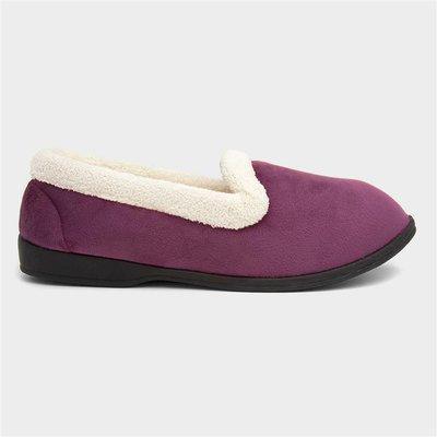 The Slipper Company Womens Purple Moccasin Slipper