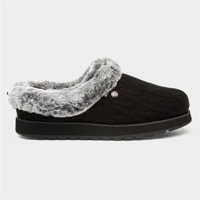 Skechers Keepsakes Ice Angel Womens Black Slipper
