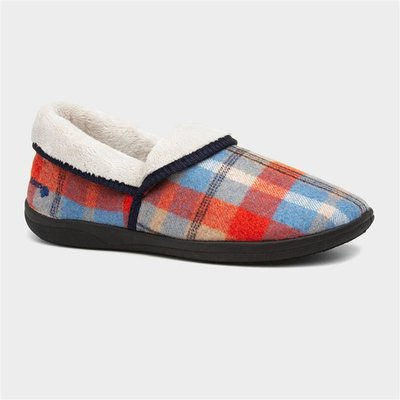 Padders Mellow Womens Blue And Red Full Slipper