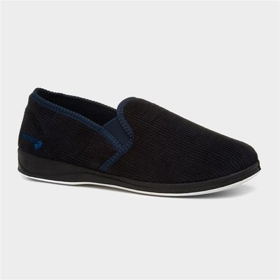 Padders Albert Mens Navy Full Slipper