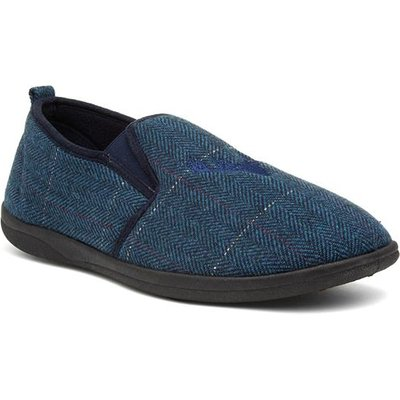 Padders Hunstman Mens Navy Full Slipper