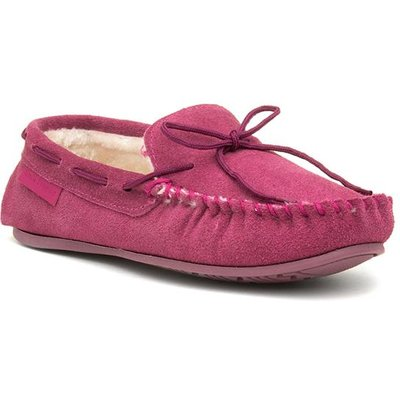 Hush Puppies Allie Womens Pink Moccasin Slipper