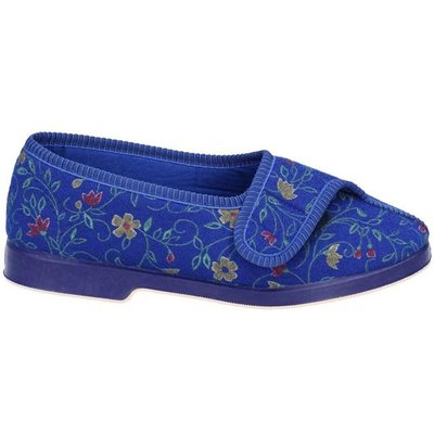 GBS Womens Wilma Wide Fit Slipper in Blue