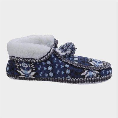 Divaz Womens Lapland Knitted Slipper in Blue