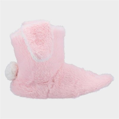 Divaz Womens Flopsy Knitted Bootie in Pink