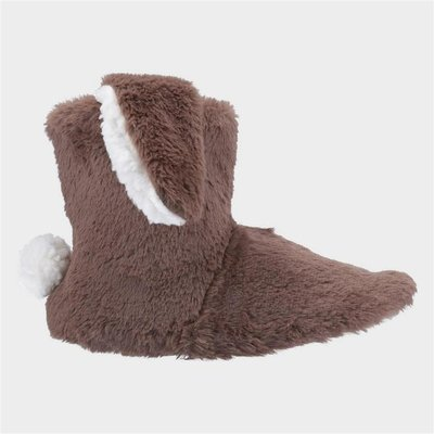 Divaz Womens Flopsy Knitted Bootie in Brown