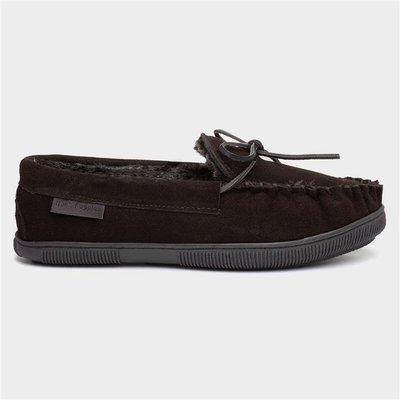 Hush Puppies Ace Mens Brown Suede Moccasin