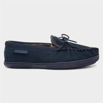 Hush Puppies Ace Mens Navy Suede Moccasin