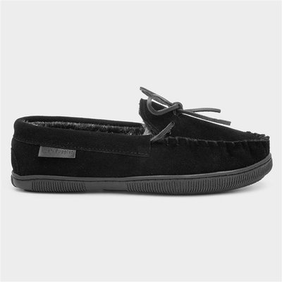 Hush Puppies Ace Mens Black Suede Moccasin