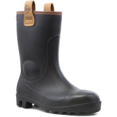 Dunlop Mens Black Rigger Safety Wellington Boot