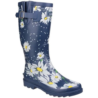 Cotswold Burghley Womens Daisy Print Wellington