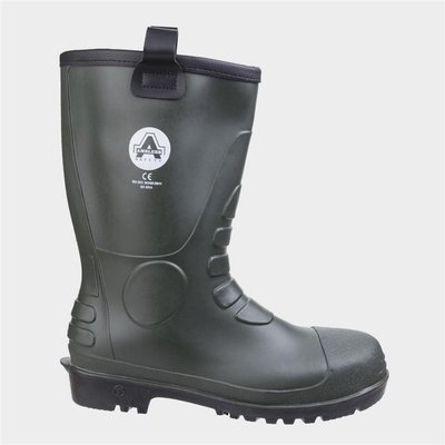 Amblers Safety Mens FS97 PVC Rigger Boot in Green