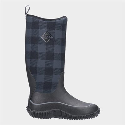 Muck Boots Hale Womens Black Check Wellies