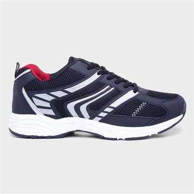 Mens Navy Lace Up Trainer