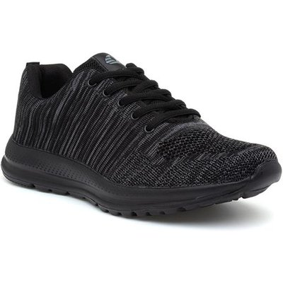 Mens Black And Grey Lace Up Trainer